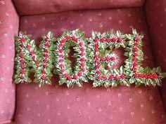 Vintage NOEL Plastic Christmas Hollyberry Letters  | eBay
