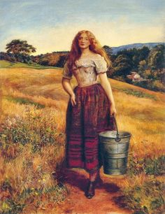 The Farmer's Daughter (1863) by Sir John Everett Millais