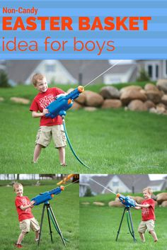 Non-Candy Easter Basket Idea for Boys! The Water Cannon is always a popular choice.