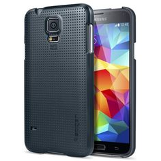 Galaxy S5 Case, Spigen® [+Screen Shield] Samsung Galaxy S5 Case Slim [Ultra Fit] [Metal Slate] Full HD Japanese... $9.99 (save $15.00)