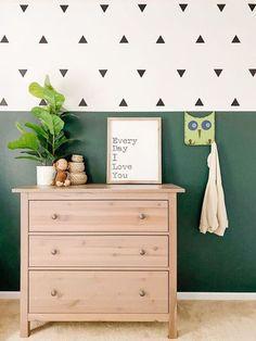 Boy Toddler Bedroom, Toddler Rooms, Big Boy Bedroom Ideas, Boys Room Paint Ideas, Toddler Girl, Green Boys Room, Bedroom Green, Boys Bedroom Paint, Accent Wall Bedroom
