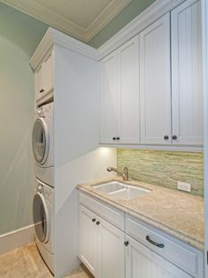 Stacked Washer And Dryer Design for my tiny laundry room