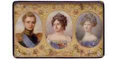Anthelme Francois Lagrene_1823_Snuffbox with portraits of Empress Maria Feodorovna, her Son Grand Duke Michael Pavlovich, and her daughter-in-law Elena Pavlovna, c. 1823 Metropolitan Museum of Arts