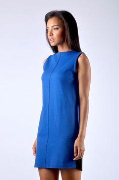 Shift Dress - Electric Blue Electric Blue Dresses, Diana, High Neck Dress, Clothes For Women, Elegant, Chic, Beautiful, Design, Fashion