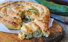 Spirale di sfoglia salata ripiena di verdure