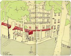 Tata Biserova. Illustrations, my old sketchbook, 2009