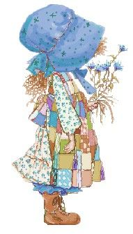 Holly Hobbie  - I just realized I have taken my fashion sense from this character. Boots? check. Kerchief bonnet thing? check. patchwork hippie apron? well, not so much anymore