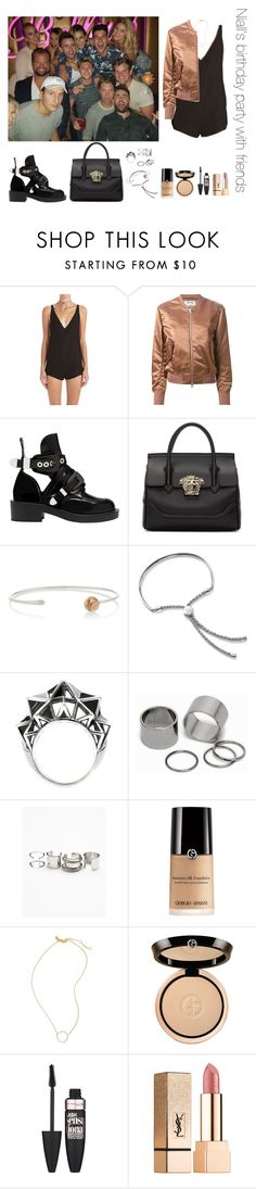 """""""Niall's birthday party with friends"""" by thetrendpear-eleanor ❤ liked on Polyvore featuring Effy Jewelry, Acne Studios, Balenciaga, Versace, Melissa Joy Manning, Monica Vinader, Bottega Veneta, Pieces, Free People and Madewell"""