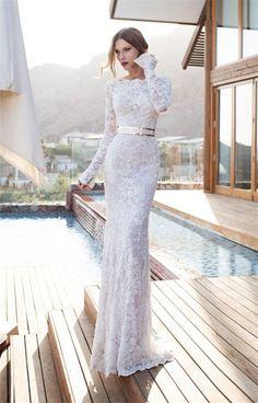 vestido de noiva sereia com manga de renda - Pesquisa Google