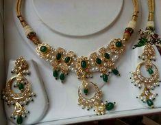 Rajputi jewellery beautiful necklace by Kuldeep Singh India Jewelry, Fine Jewelry, Women Jewelry, Fashion Jewelry, New Gold Jewellery Designs, Jewelry Design, Rajputi Jewellery, White Gold Jewelry, Beautiful Necklaces