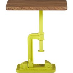 Jack Side Table from CB2. There aren't words for how much I love this. It's fun, functional, creative, interesting...so many words.