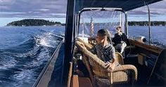 "Richard Estes ""Water Taxi, Mount Desert"" 1999"