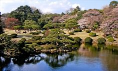 www.3or10.net - The Shinjuku Gyoen Garden is beautiful spot with its Japanese and European garden areas. Best time to visit here is cherry blossom season.