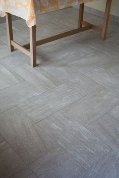 Herringbone Tile Entry Way / Foyer/ Minimal Tile Design Vct Flooring, Vct Tile, Herringbone Tile Floors, Foyer Flooring, Kitchen Flooring, Herringbone Pattern, Outdoor Flooring, Entry Tile, Entry Foyer