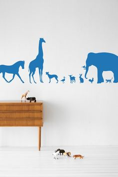 Animal wall decals for surfaces that can't be painted