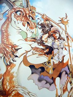 Akihiro Yamada 山田章博 The Twelve Kingdoms, Japanese Illustration, Art Styles, Illustrations And Posters, Vintage Japanese, Snakes, Drawing Reference, Cartoon Art, Fashion Art