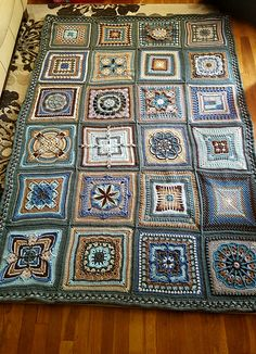 Nuts About 35 Squares CAL [Free Crochet Pattern] #arte #crocheting
