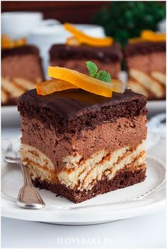 tortowe ciasto Gourmet Desserts, Gourmet Recipes, Cake Recipes, Dessert Recipes, Polish Recipes, Food Cakes, Food Plating, Food To Make, Nutella