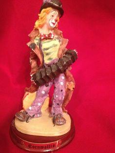 Cornwallis Woman Hobo Clown Figurine