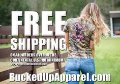 FREE SHIPPING ENDS TONIGHT AT MIDNIGHT!! NO MINIMUM!! Offer only available to the continental United States. Please share with your friends and family!! Visit BuckedUpApparel.com  #buckedup #getbuckedup #bonefire #spooled #hunting #fishing #huntress #huntin #girlshunttoo #takeherhunting #freeshipping #countryboy #countrygirl #countrylife #countrymusic #redneck #realtree #camo #camouflage #camogirl #lovecamo #trucks #yeeyee