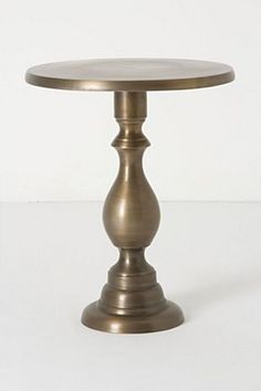 Turned Brass Side Table | Anthropologie.eu