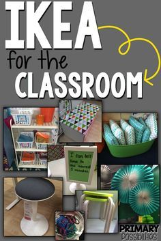 Teachers Love Ikea { Part 2 } (Primary Possibilities) I absolutely LOVE IKEA and even though the closest one to me is about 3 hours away, I always make a point to go a couple of times a year. A few years ago, I did a post on items from IKEA that teacher Classroom Hacks, New Classroom, Classroom Setting, Classroom Design, Preschool Classroom, Year 1 Classroom Layout, Classroom Supplies, Classroom Furniture, Stools For Classroom