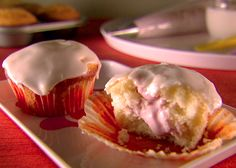 Strawberry and Mascarpone Filled Cupcakes - My wife is making these for our four-year-old's 5th birthday party this weekend.