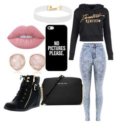 """Untitled #14"" by joselin-ramos ❤ liked on Polyvore featuring Vanessa Mooney, Casetify, Lime Crime, Top Moda, MICHAEL Michael Kors and Monica Vinader"