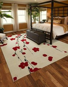 Accessories. Make Your Designs Of Flooring At Home Looks More Beautiful With The Nice Of Cherry Blossom Rug: Bedroom Picture Decoration The Concepts Picture Example Large Shaped Cherry Blossom Rug Small Picture Flowers As The Best Motif As The Nice Concep