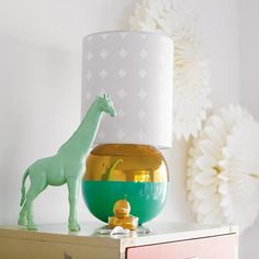 Metallic Gold and Aqua Table Lamp | The Land of Nod