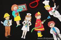 3. lépés közösségi Segítő Stick Puppets kézműves