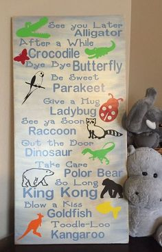 This sign is adorable! Great for a kids nursery, toddlers bed room or school-aged kids play room! This will also work as a great gift for teachers!! These are hand painted, lightly sanded and made fro