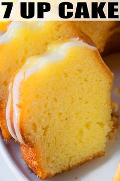 Quick and easy 7 up cake recipe with cake mix, homemade with simple ingredients and lemon glaze. Soft, moist and can be made as bundt cake or pound cake. Cake Mix Desserts, Cake Mix Recipes, Pound Cake Recipes, Lemon Dessert Recipes, Seven Up Cake, 7 Up Cake, 7 Up Pound Cake, Vanilla Cake Mixes, Lemon Cake Mixes