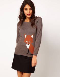{Foxy sweater} by Sugarhill - so adorable! the tail wraps around to the back :)