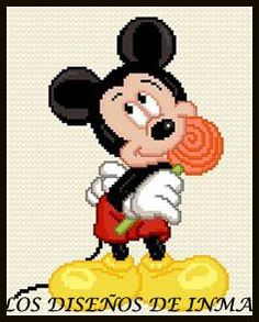 PDF Gráfico Punto de Cruz, Disney 15, Disney Punto de Cruz, Disney, Disney Cross Stitch Pattern