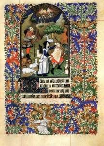 Jacques Coene Book of Hours for the Use of Rouen c. 1400 Manuscript (I. B. 27) fol 85 Biblioteca Nazionale Vittorio Emanuele III, Naples
