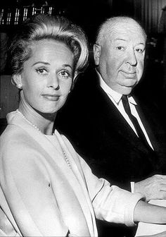 Tippi Hedren and Alfred Hitchcock in 1963.