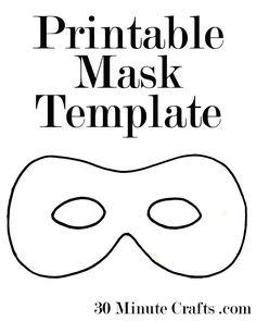 Printable Halloween Mask Templates - a superhero mask, animal mask, and generic Halloween mask. Available as PDF downloads or Silhouette cut files.