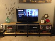 Pallet Wood Entertainment Center 2