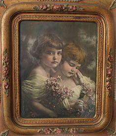antique photograph in original frame