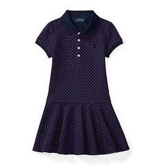 Polo Ralph Lauren® Girls' 2T-6X Polka-Dot Knit Dress