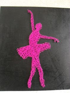 Ballerina string art girls room decor string art pinterest girls ballerina and inspiration - String art modele ...
