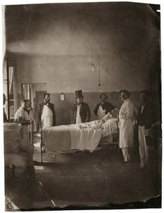 Doctors in a French asylum, 1850s