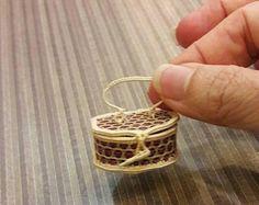 tiny wicker basket from Bangkok