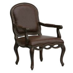 Beaufort Hand Carved Accent Chair | Overstock™ Shopping - Great Deals on Living Room Chairs