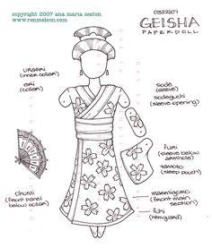 Geisha Paper Doll