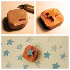 Eraser stamp - mama recicla