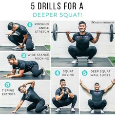 10 Fast Tips To Improve Your Fitness Outlook Ankle Stretches, Stretching Exercises, Ankle Mobility Exercises, Weight Training, Weight Lifting, Preparation Physique, Deep Squat, Le Pilates, Yoga Fitness