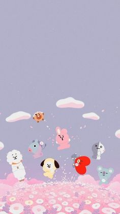 My cousin is a fan of bts so when she say this she literally screamed Wallpapers Kawaii, Cute Cartoon Wallpapers, Kawaii Wallpaper, Wallpaper Iphone Cute, Aesthetic Iphone Wallpaper, Bts Wallpaper, Cute Backgrounds For Iphone, Cute Wallpaper Backgrounds, Wallpaper Collection