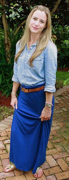 Maxi skirt w/ belt...